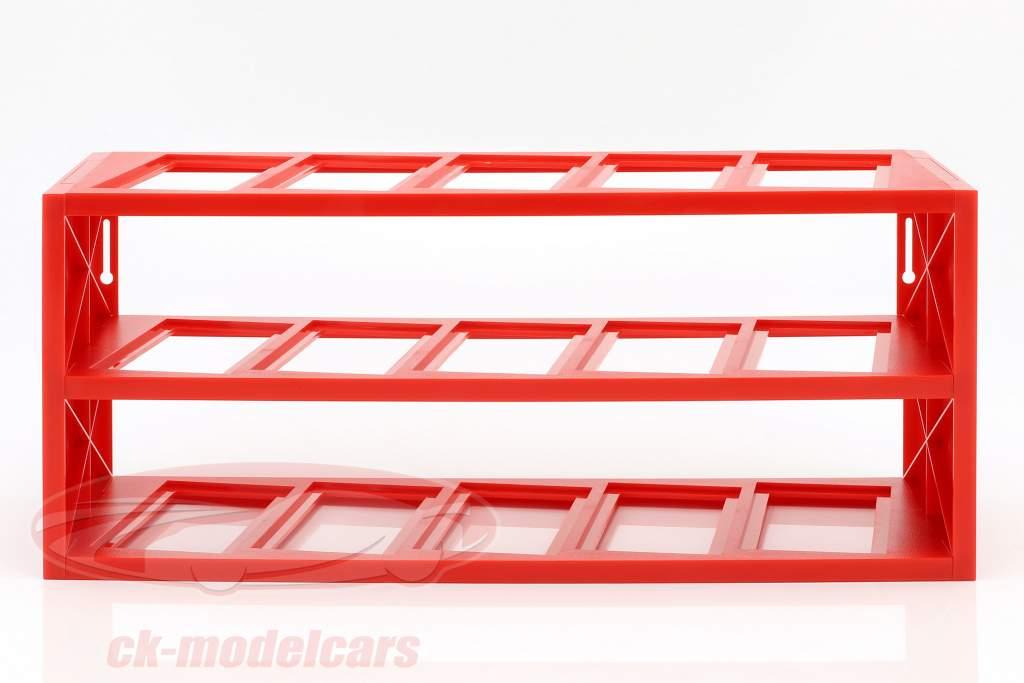 plastica vetrina per su a 15 Ferrari F1 modelli in scala 1:43 rosso Atlas