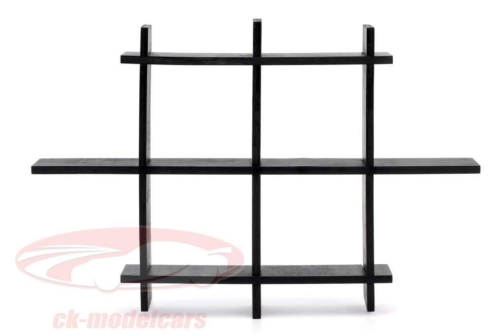 alto calidad de madera estante para coches modelo y miniaturas marrón oscuro 1:43 Atlas