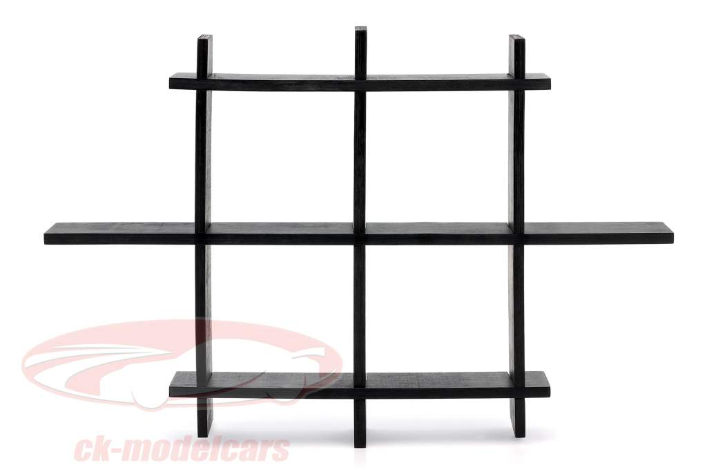 High quality wooden shelf for model cars and miniatures dark brown 1:43 Atlas