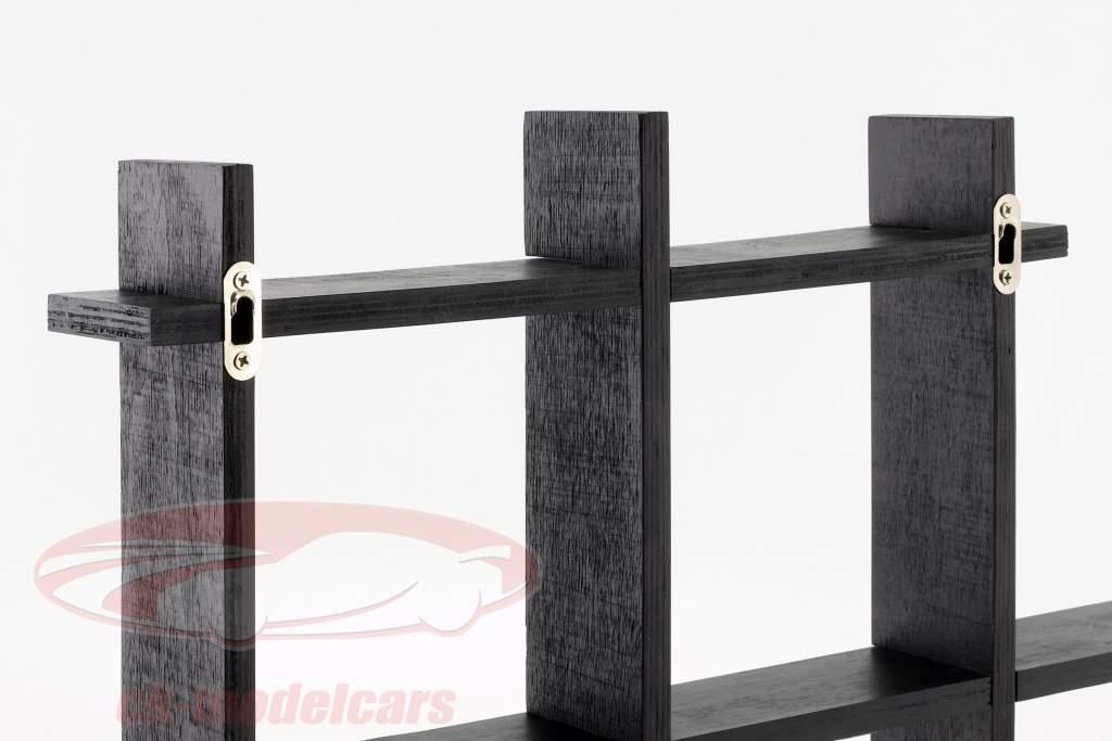 høj kvalitet træ hylde til modelbiler og miniaturer mørkebrun 1:43 Atlas