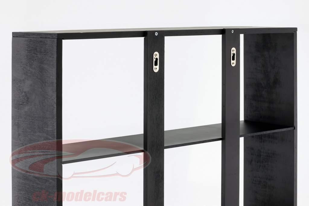 Hochwertige Wandvitrine / Vitrine aus Holz für Modellautos dunkelbraun 60 x 64 x 15 cm Atlas