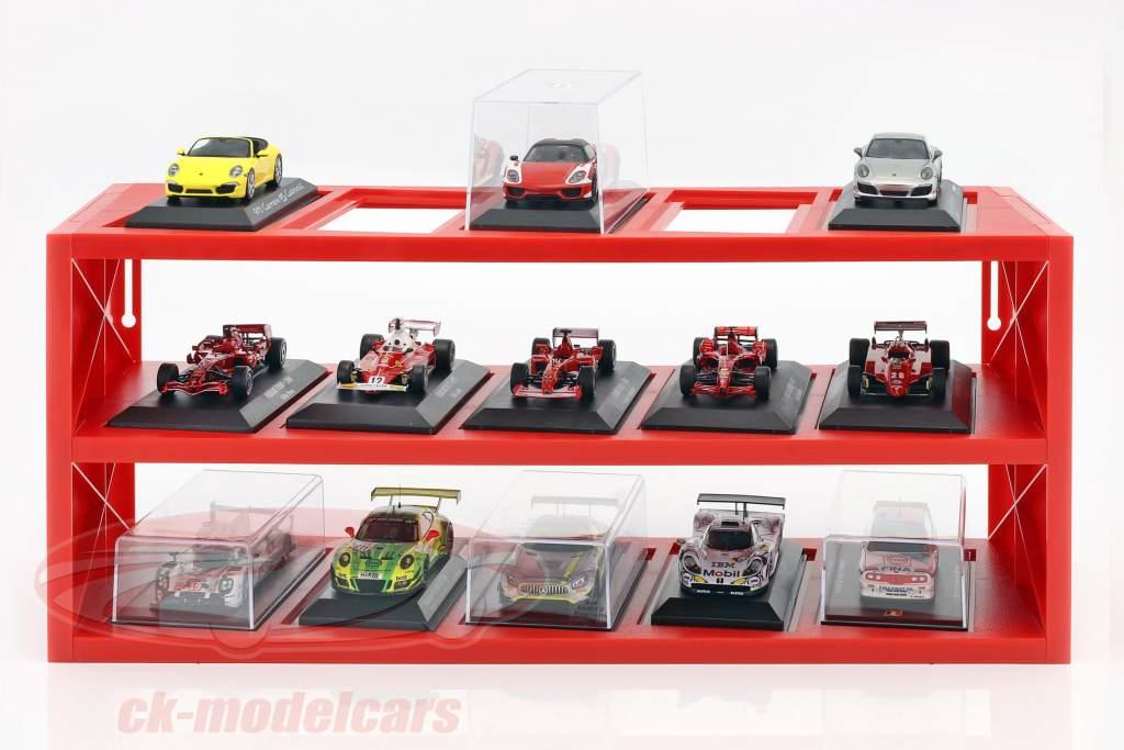 plastic vitrine voor omhoog naar 15 Ferrari F1 modellen in schaal 1:43 rood Atlas