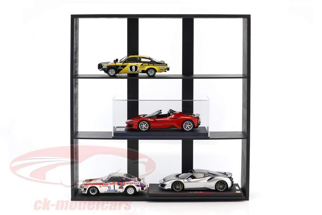 alto qualidade de madeira prateleira para modelo carros e miniaturas escuro marrom 60 x 64 x 15 cm Atlas