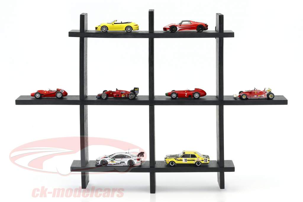 haut qualité en bois étagère pour voitures de modèle et miniatures brun foncé 1:43 Atlas