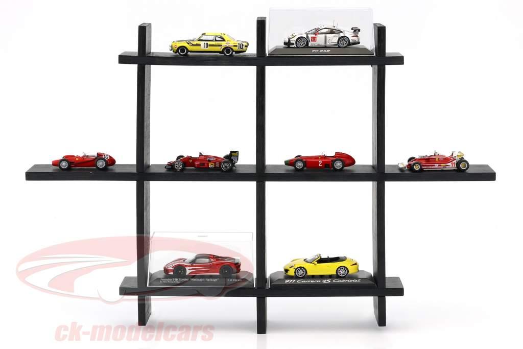alto qualidade de madeira prateleira para carros modelo e miniaturas castanho escuro 1:43 Atlas