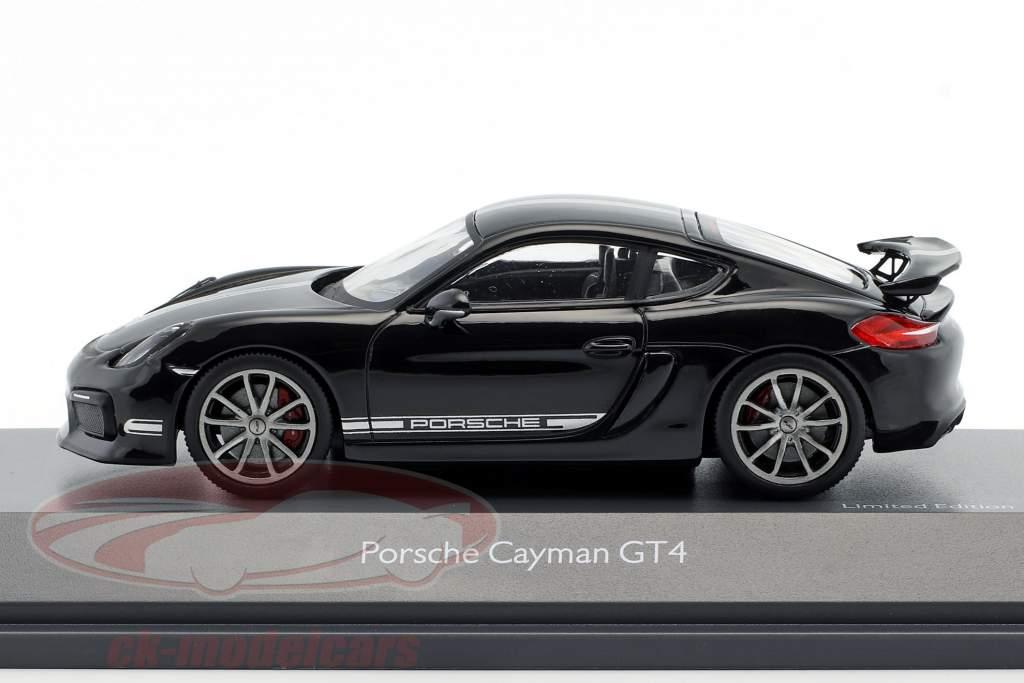 Porsche Cayman GT4 (981c) year 2015 black 1:43 Schuco