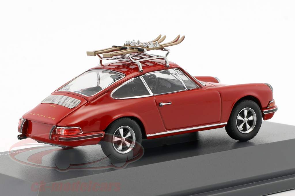 Porsche 911 S skivakantie rood 1:43 Schuco
