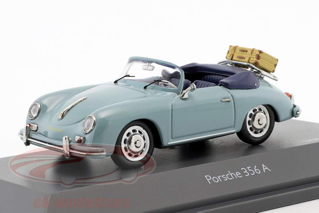 Porsche 356 A cabriolet tempo di percorrenza blu 1:43 Schuco