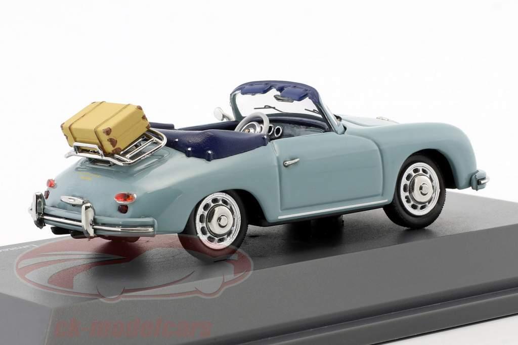Porsche 356 A cabriolet temps de Voyage bleu 1:43 Schuco