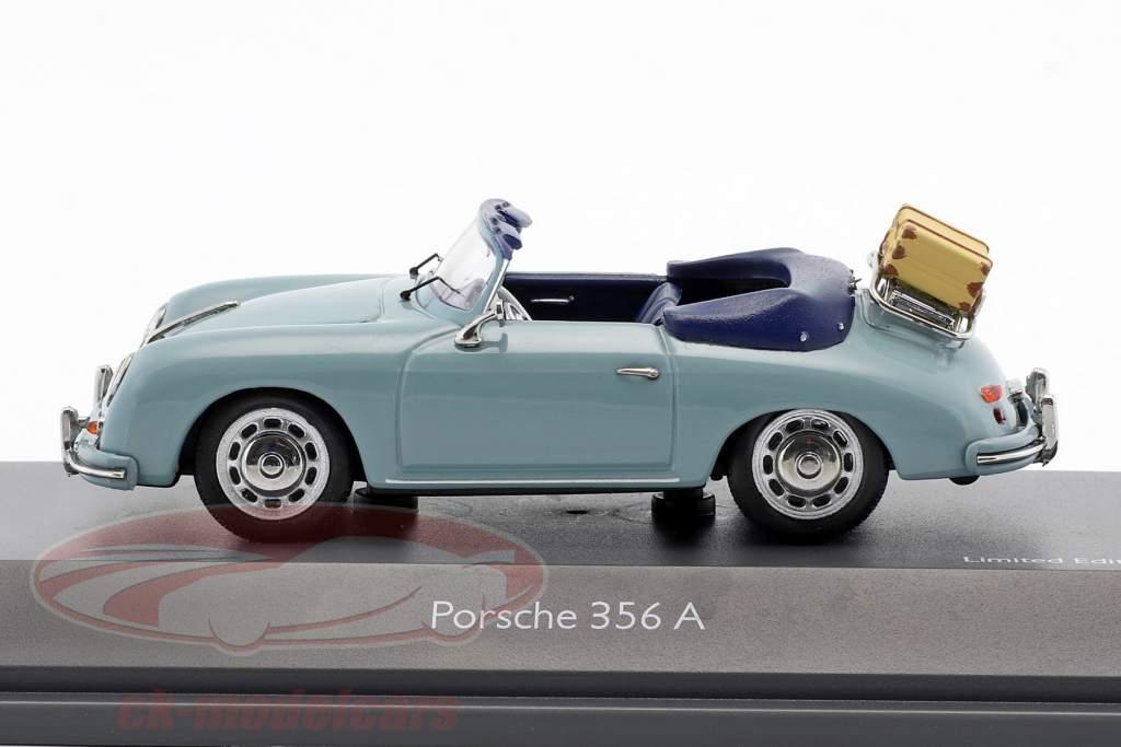 Porsche 356 A Cabriolet Reisezeit meißenblau 1:43 Schuco