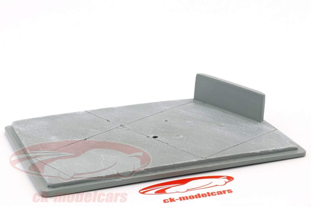 Diorama bundplade racerbanen 16,5 x 10,5 cm