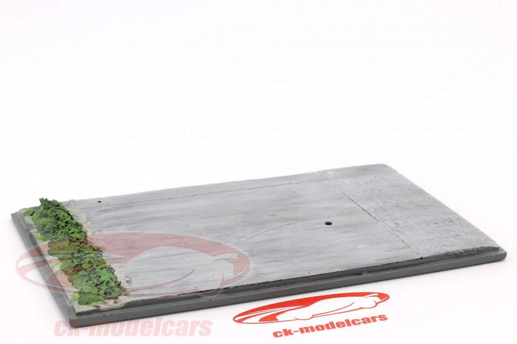 Diorama basisplaat renbaan 16,5 x 10,5 cm