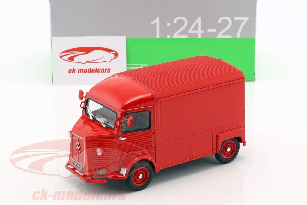Citroen Type H année de construction 1962 rouge 1:24 Welly