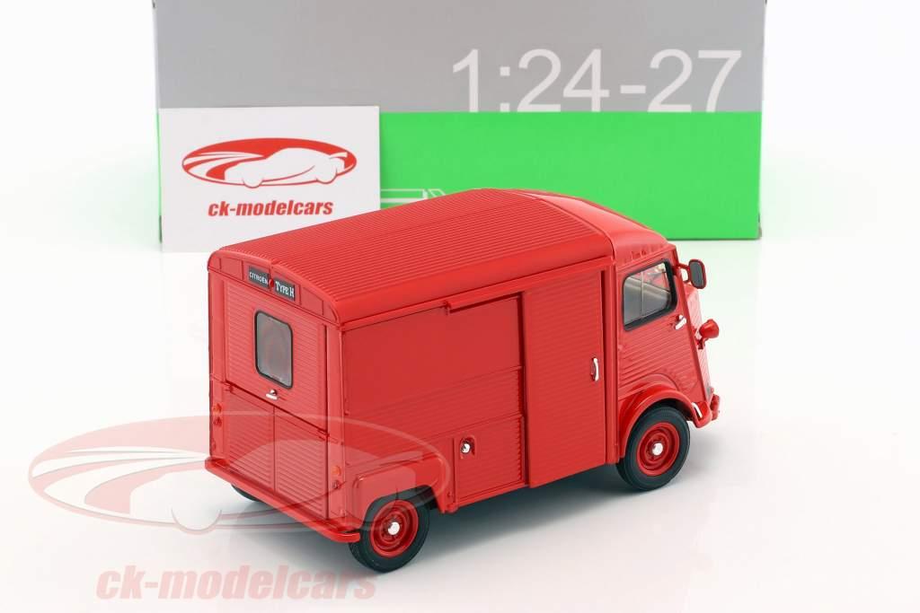 Citroen Type H ano de construção 1962 vermelho 1:24 Welly