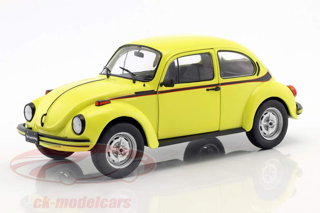 Volkswagen VW Beetle 1303 Sport year 1974 yellow 1:18 Solido