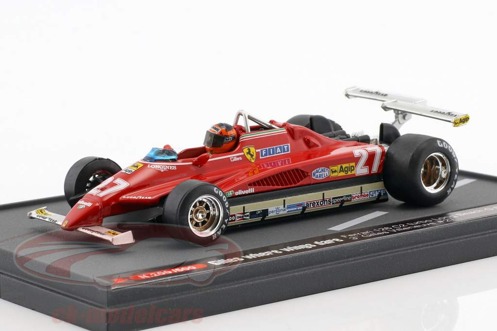 Gilles Villeneuve Ferrari 126C2 #27 VS GP Long Beach formule 1 1982 1:43 Brumm
