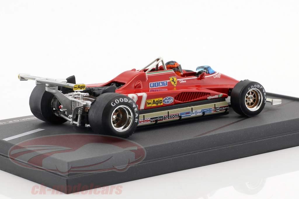 Gilles Villeneuve Ferrari 126C2 #27 USA GP Long Beach formel 1 1982 1:43 Brumm