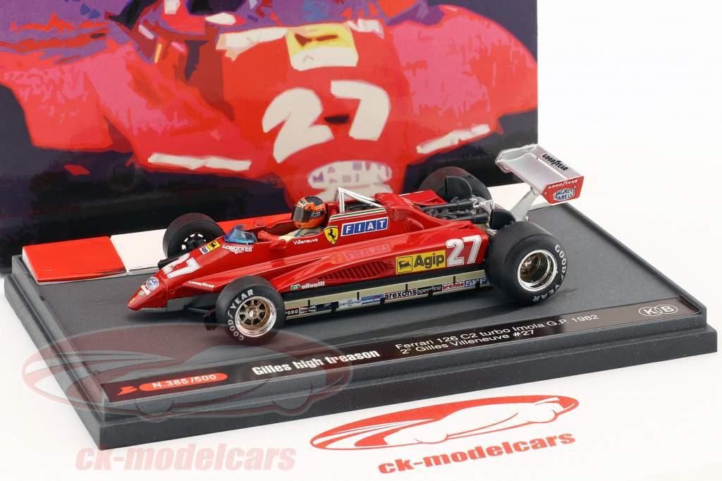 Gilles Villeneuve Ferrari 126C2 #27 2e San Marino GP formule 1 1982 1:43 Brumm
