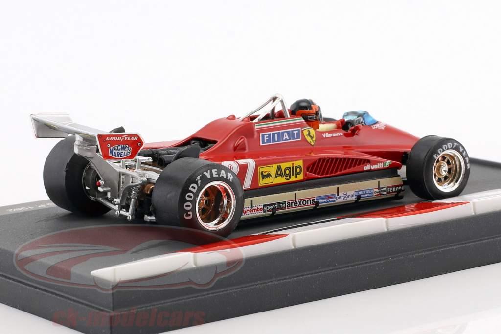 Gilles Villeneuve Ferrari 126C2 #27 2º San Marino GP fórmula 1 1982 1:43 Brumm