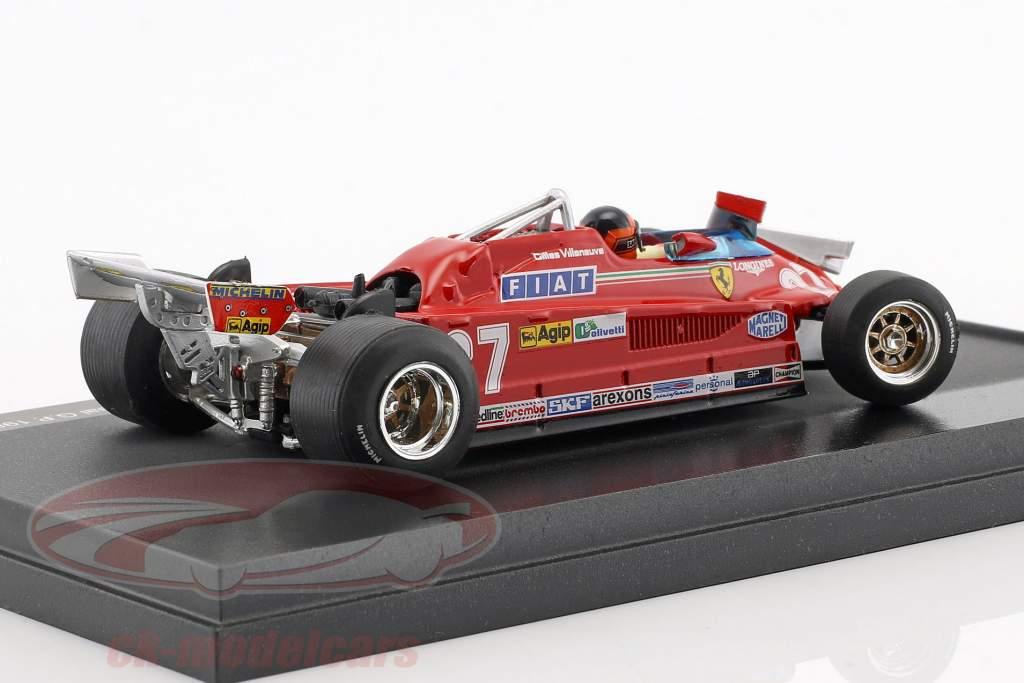 Gilles Villeneuve Ferrari126CK #27 3rd Kanda GP formula 1 1981 1:43 Brumm