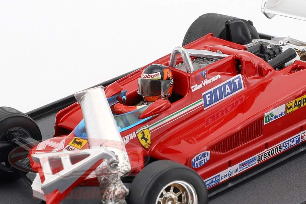 Gilles Villeneuve Ferrari126CK #27 3e Kanda GP formule 1 1981 1:43 Brumm