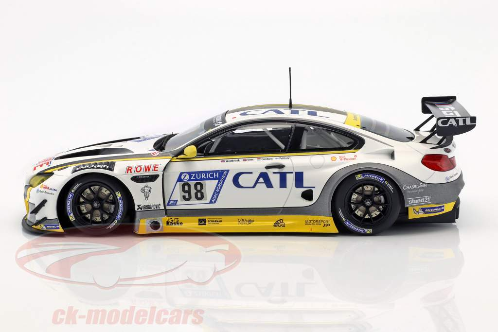 BMW M6 GT3 #98 2e 24h Nürburgring 2017 Rowe Racing 1:18 Minichamps