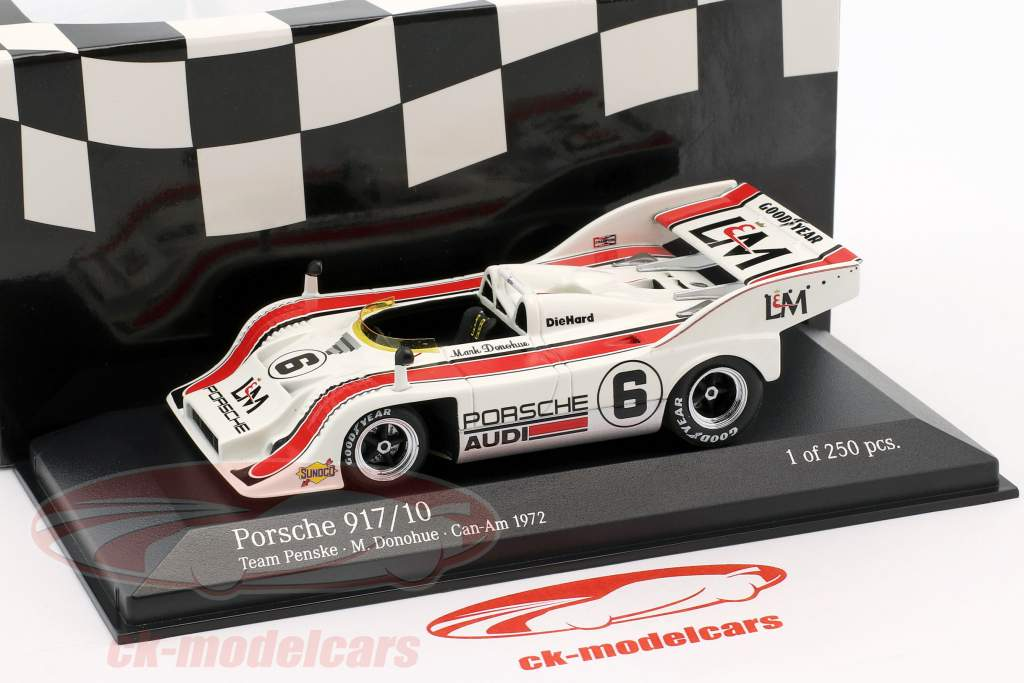 Porsche 917/10 #6 2e Mosport Can-Am 1972 Mark Donohue 1:43 Minichamps