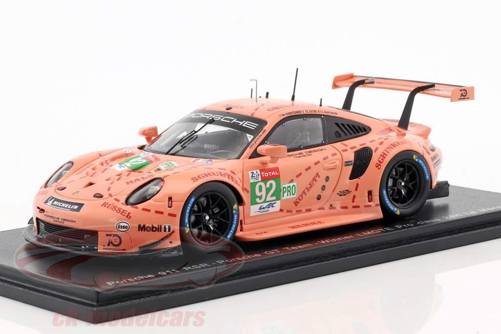 Porsche 911 (991) RSR #92 classe gagnant LMGTE-Pro 24h LeMans 2018 1:43 Spark