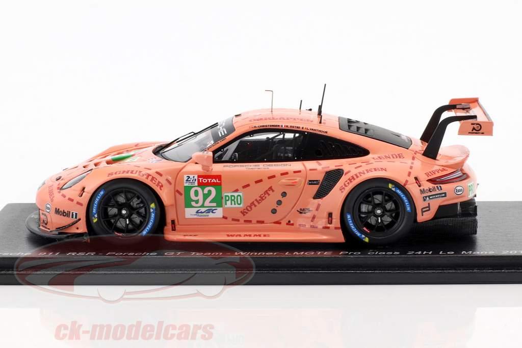 Porsche 911 (991) RSR #92 classe vencedor LMGTE-Pro 24h LeMans 2018 1:43 Spark
