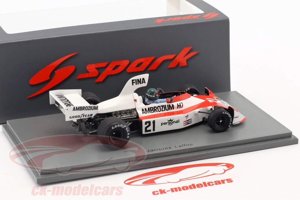 Jacques Laffite Williams FW04 #21 2nd German GP formula 1 1975 1:43 Spark
