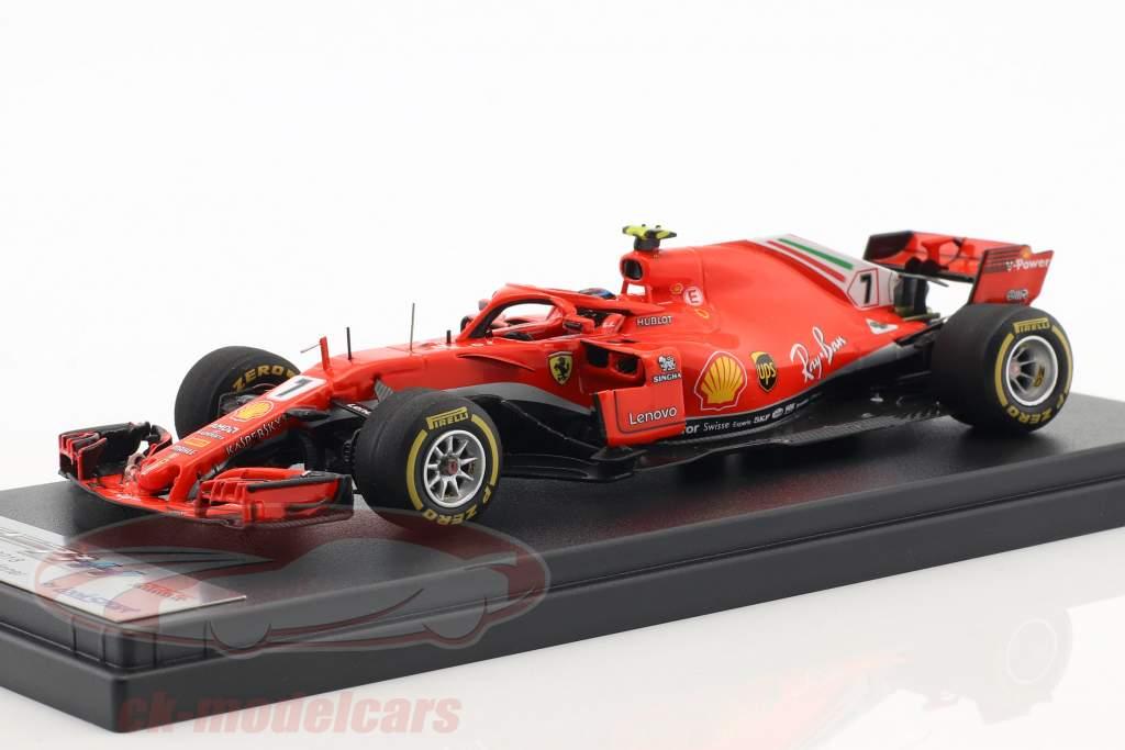 Kimi Räikkönen Ferrari SF71H #7 ganador USA GP fórmula 1 2018 1:43 LookSmart