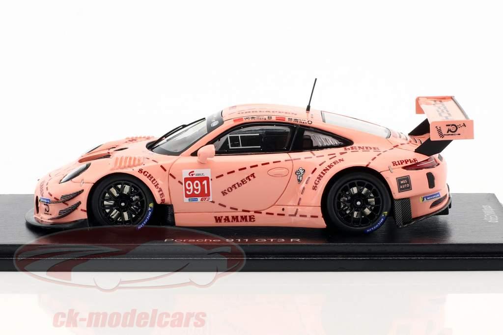 Porsche 911 GT3 R Pink Pig #991 porcellana GT Championship Shanghai 2018 1:43 Spark