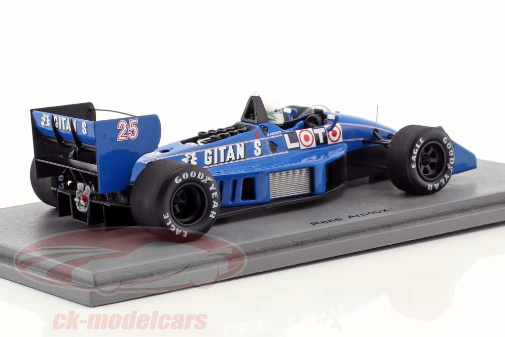 Rene Arnoux Ligier JS31 #25 monaco GP formula 1 1988 1:43 Spark