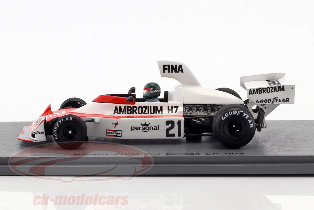 Jacques Laffite Williams FW04 #21 2º alemão GP fórmula 1 1975 1:43 Spark