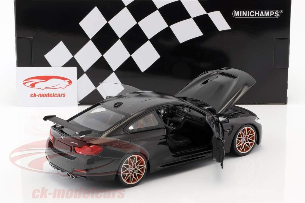 BMW M4 GTS año de construcción 2016 negro metálico 1:18 Minichamps