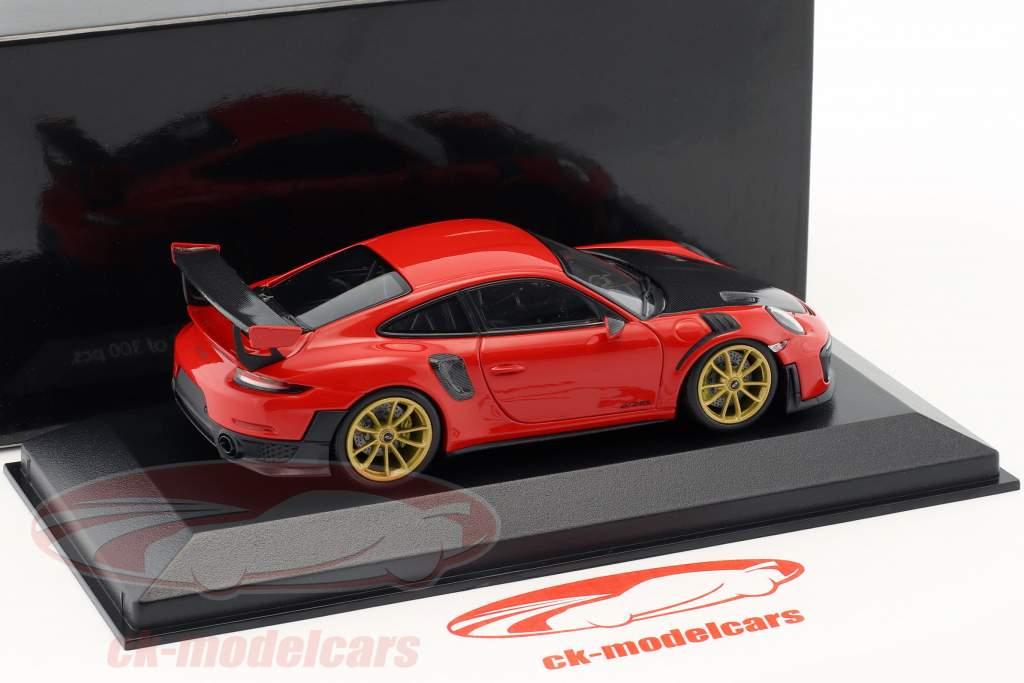 Porsche 911 (991 II) GT2 RS ano de construção 2018 guardas vermelho 1:43 Minichamps