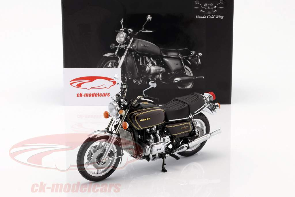 Honda Goldwing GL 1000 K3 Opførselsår 1978 brun metallisk 1:12 Minichamps