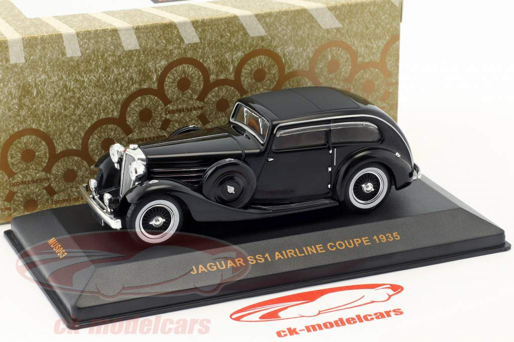 Jaguar SS Airline Coupe año de construcción 1935 negro 1:43 Ixo