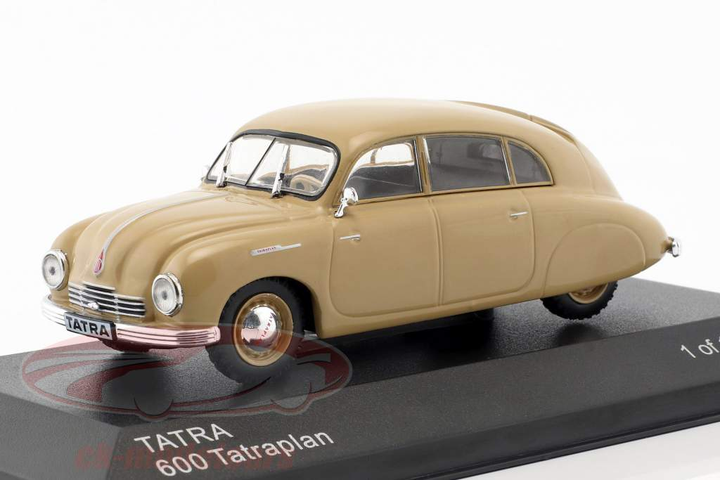 Tatra 600 Tatraplan ano de construção 1948-1952 bege 1:43 WhiteBox