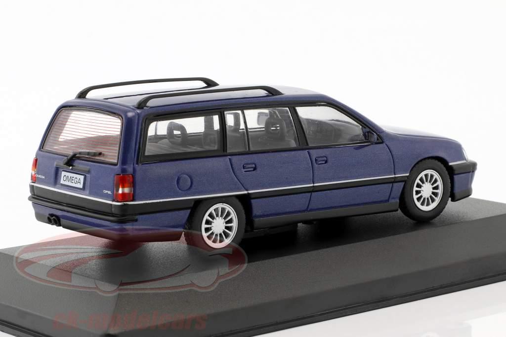 Opel Omega A2 Caravan anno di costruzione 1990-1993 blu metallico 1:43 WhiteBox
