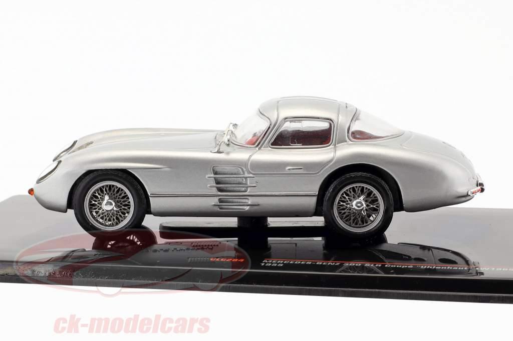 Mercedes-Benz 300 SLR Coupe Uhlenhaut (W196S) Bouwjaar 1955 zilver 1:43 Ixo