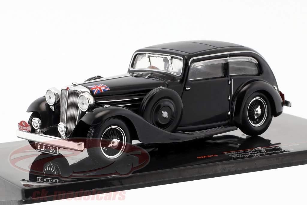 Jaguar SS1 Airline Coupe #99 Rallye Monte Carlo 1935 Sydney H. Light 1:43 Ixo