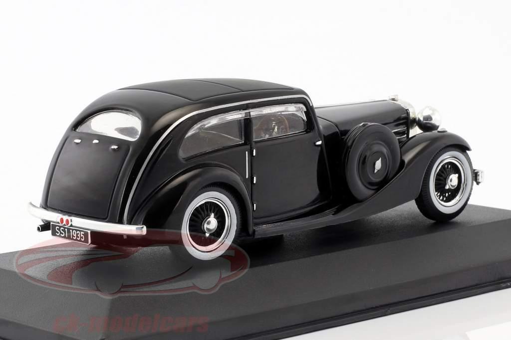 Jaguar SS Airline Coupe ano de construção 1935 preto 1:43 Ixo