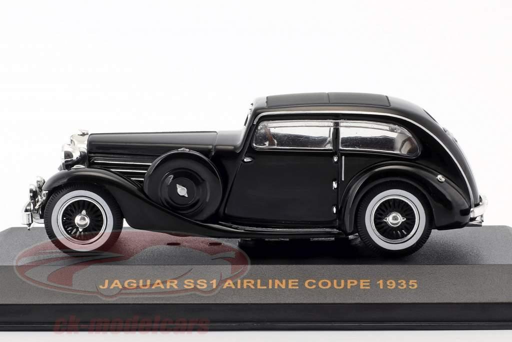 Jaguar SS Airline Coupe year 1935 black 1:43 Ixo