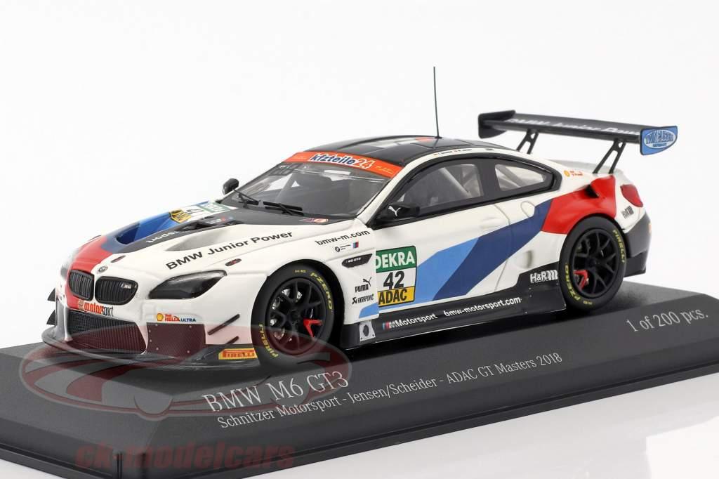 BMW M6 GT3 #42 ADAC GT Masters 2018 Jensen, Scheider 1:43 Minichamps