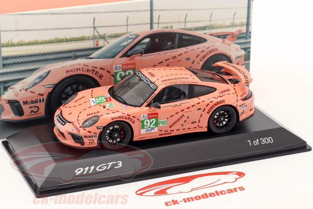 Spark 1 43 Porsche 911 991 Ii Gt3 92 Pink Pig Version Waxl2000001 Model Car
