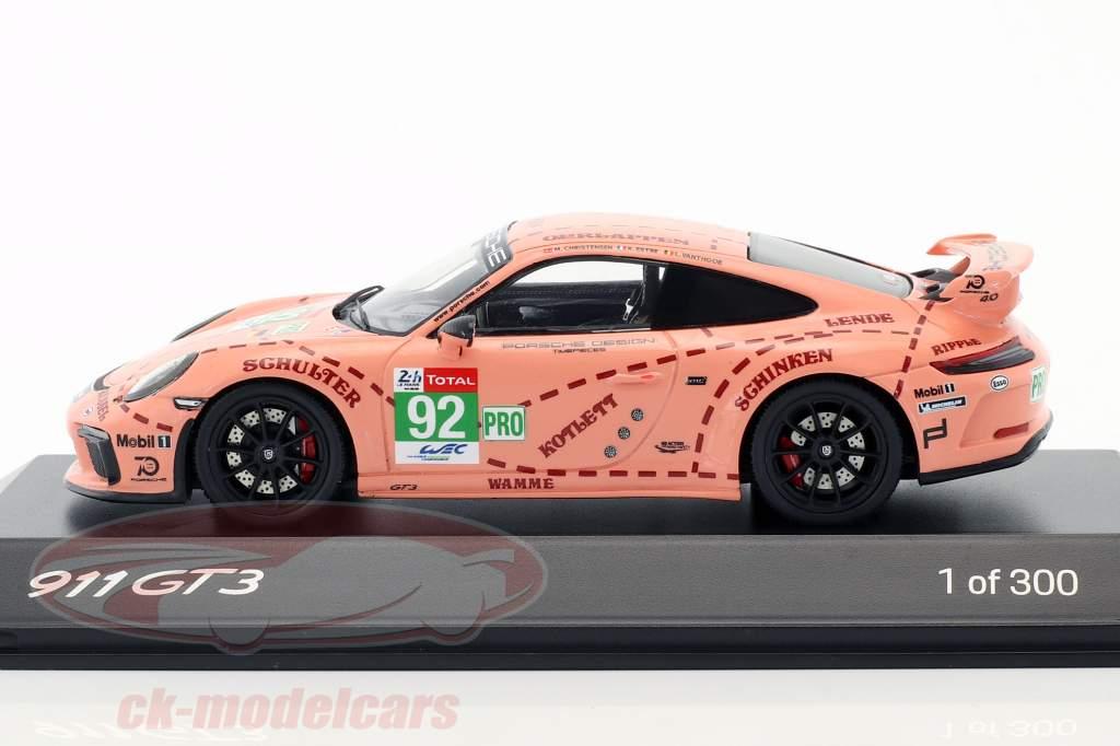 Porsche 911 (991 II) GT3 #92 Pink Pig Version 1:43 Spark