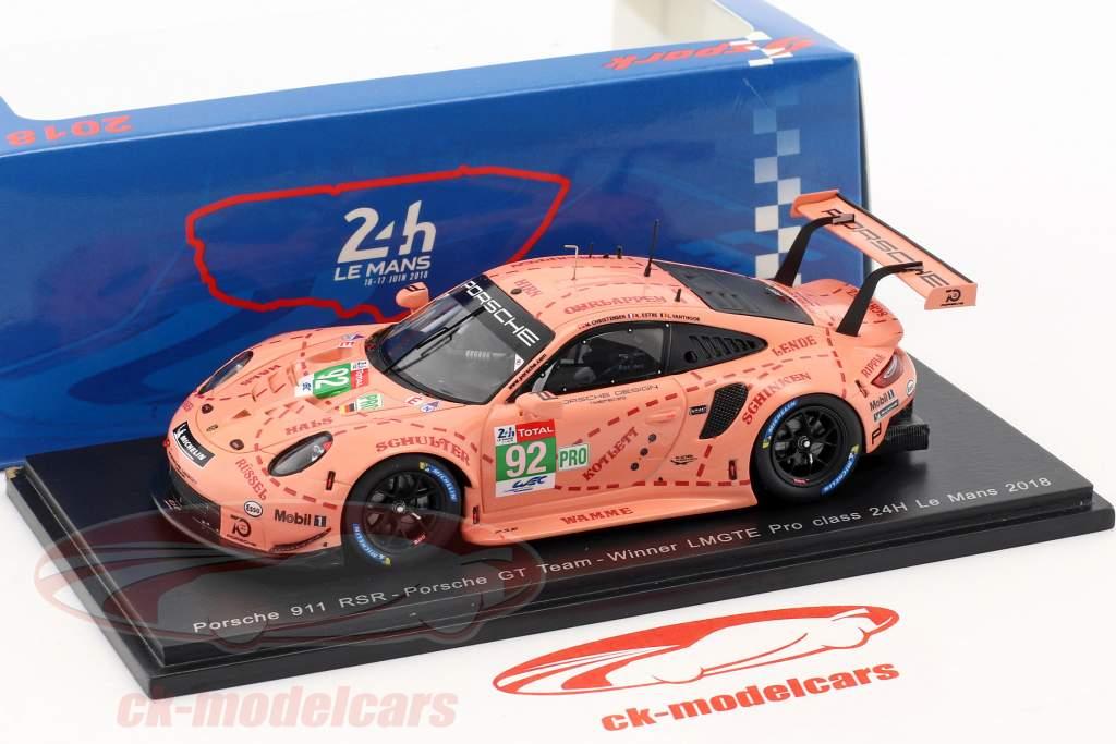 Porsche 911 (991) RSR #92 klasse Vinder LMGTE-Pro 24h LeMans 2018 1:43 Spark