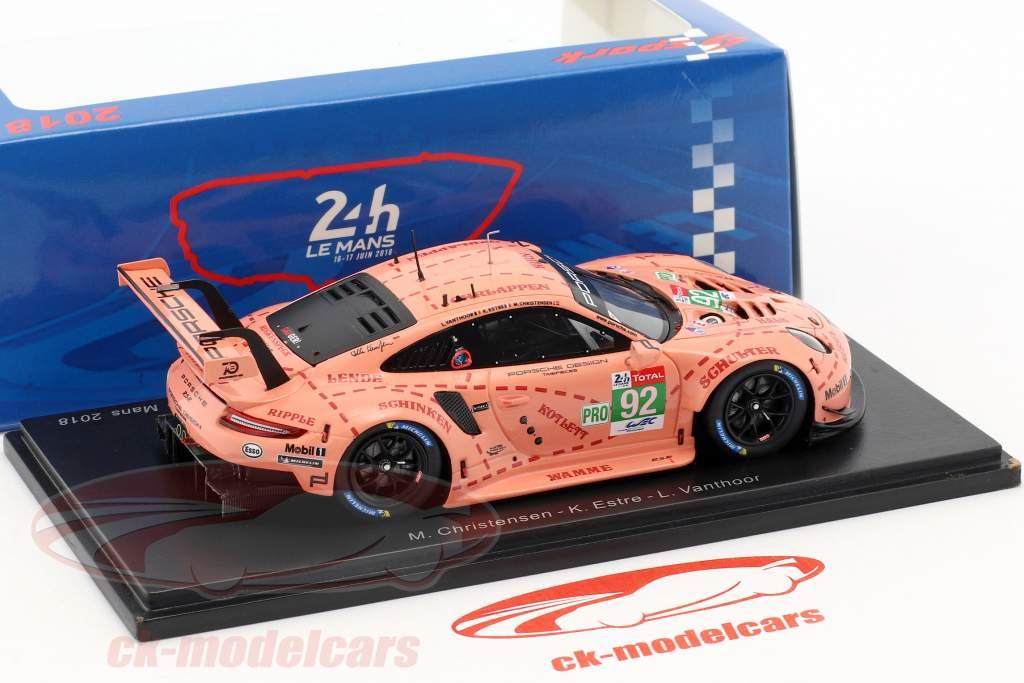 Porsche 911 (991) RSR #92 klasse winnaar LMGTE-Pro 24h LeMans 2018 1:43 Spark