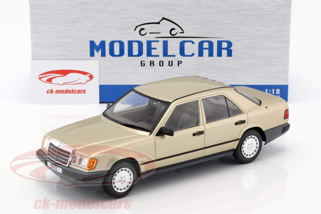 Mercedes-Benz 260 E (W124) Baujahr 1984 gold metallic 1:18 Model Car Group